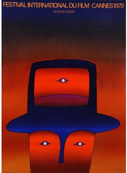 "Original Vintage French Poster ""Festival International Du film Cannes"" by Folon 1979"