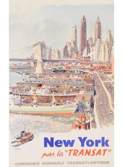 "Original poster New York par la ""TRANSAT"""
