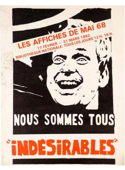 "Original Vintage French Student Revolution Poster ""iNDESIRABLES"" 1968"