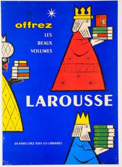 Original Vintage French Poster advertising Larousse Publishing by Carlu ca. 1960