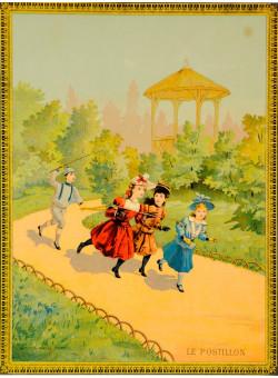 "Original Vintage Children Story Poster ""Le Postillon"" ca. 1890"