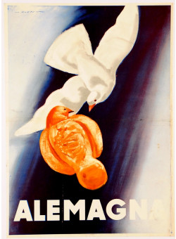 """Italian Poster """"Alemagna"""" Dudovich (Second printing)"""