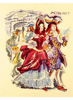 Original Vintage French Poster Loterie Nationale - Elegance by Van ROMPAEY