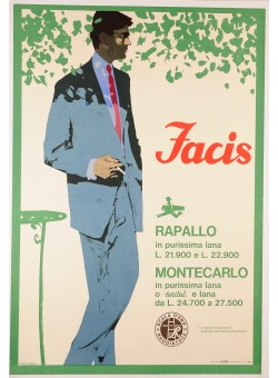 Italian Vintage Fashion Poster for Facis by Ferenc Pinter 1963