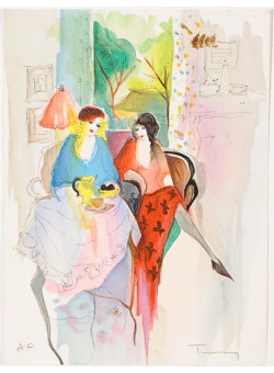 """Original Lithograph by Tarkay from the book """"Works on Paper"""""""