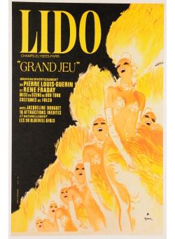 "French Poster LIDO Champs- Elysse-Paris ""Grand Jeu"""