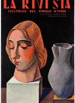 "Original Italian Magazine Cover ""La Rivista – Il Popolo d´Italia"" April 1928"