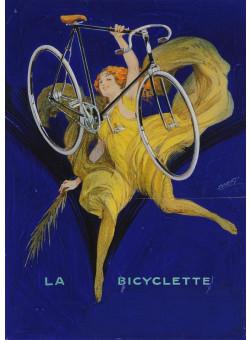 "Original Vintage Signed Maquette ""La Bicyclette"" By DORFI (Albert Dorfinant)"