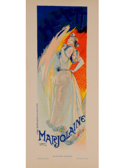 """Original Vintage French Lithograph """"Les Affiches Illustrees"""" by De Feure 1890"""
