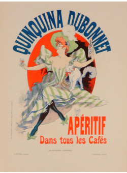 """Original Vintage French Lithograph """"Les Affiches Illustrees"""" by Cheret 1895"""
