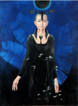 """Original Chinese Contemporary Art Acrylic on Canvas """"May Chen"""" Hei Feng 2005"""