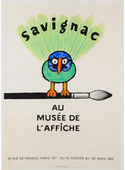"""Original Vintage French Poster """"Au Musee de L'Affiche"""" By Savignac 1982"""