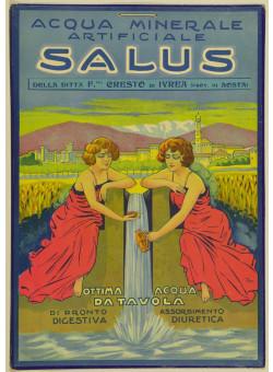 Original Vintage Italian Poster for Salus Acqua Minerale