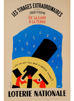 """Original Advertising Poster """"Loterie Nationale"""" by Grove"""