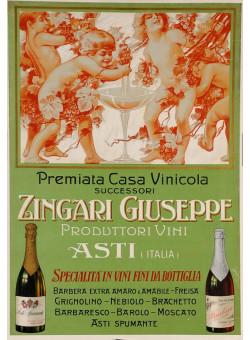 "Original Vintage Advertising Poster Alcoholic Drink ""Zingari Giuseppe"""