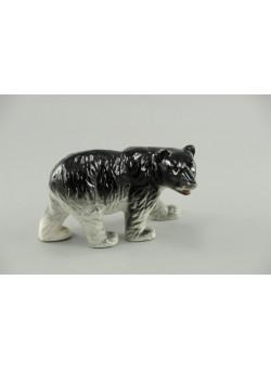 Japan Miniature Porcelain Bear Walking Figurine