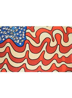 "Original Graffiti Painting by  'KIP'  ""The Flag """
