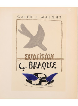 """Original Lithograph """"Galerie Maeght"""" by G. BRAQUE for """"Affiches Originales"""" 1959"""