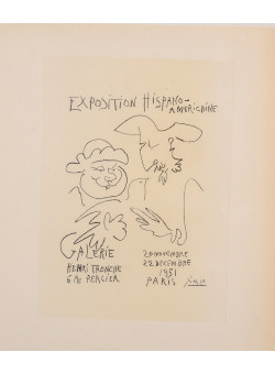 "Original Lithograph ""Exposition Hispano-Americaine"" by PICASSO"