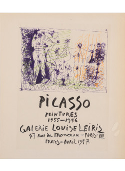 "Original Lithograph ""Peintures 1955-1956"" by PICASSO Affiches Originales"