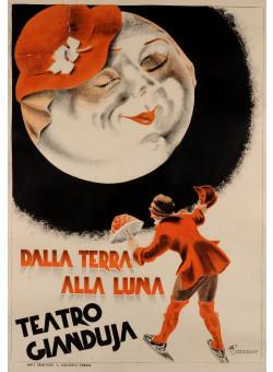"Original Vintage Italian Theatre Poster ""Teatro Gianduja"" by Romano ca. 1920"