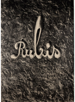 "Original Vintage German Poster Advertising ""Rubis Damen Wasche"" Lingerie 1950"