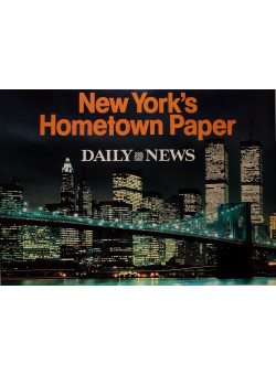 "Original Vintage Poster Advertising ""Daily News - New York's Hometown Paper"""