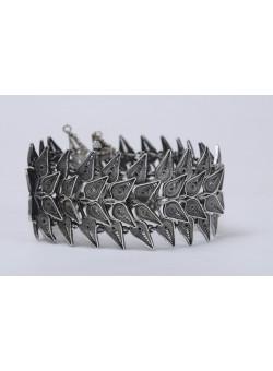 Vintage 925 Sterling Silver and Filigree Bracelet Filigree Made in Palestine