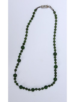 Artisan Handmade Sterling Silver Claspe and Green Tourmaline Necklace