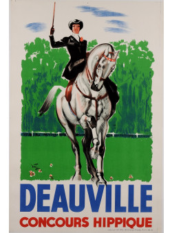 Original Vintage French Travel Poster advertising Deauville by Jaquet 30's-40's