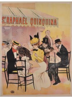 Original French Vintage Poster Advertising St. Raphael Quinquina ca. 1920