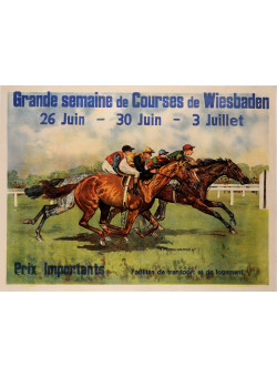 """Original Vintage French Entertainment Poster for """"Grande Semaine"""" 1920"""