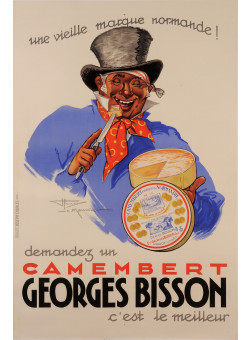 "Original Vintage French Poster for Camembert ""Georges Bisson"" by Le Monnier 1937"