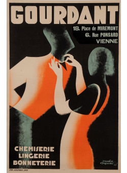 """Original Vintage French Poster for """"GOURDANT"""" Department Store by FRAPOTAT"""
