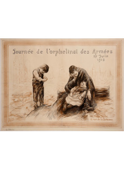 "Original Vintage French Poster for ""Journee de l'orphelinat des Armees"" 1915"