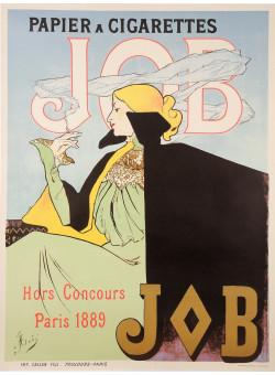 "Original Vintage French Poster for ""JOB Papier a Cigarettes"" by Atche - REPRINT"