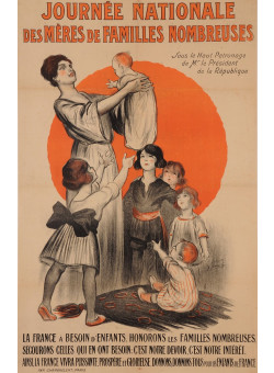 "Original Vintage French Poster for ""Journee Nationale de Meres de Familles"""
