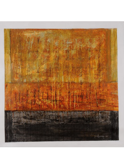 """Original Mixed Media on Canvas Abstract Painting """"Mediterraneo"""" by Guillenyo 2000"""