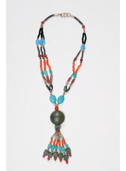 Ethnic Vintage Variety Natural Multi-colour Semi-precious  Stones
