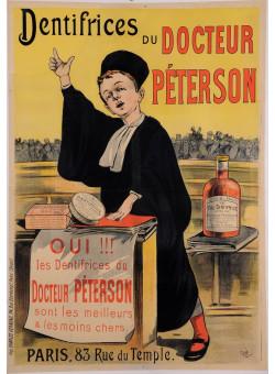 "Original Vintage French Poster for ""Dentifrices du Docteur Peterson"" by Oge 1897"