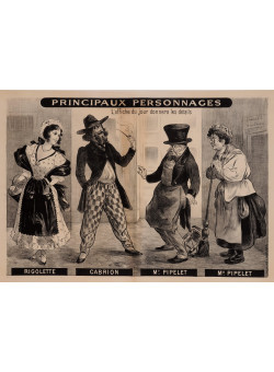"""Original Vintage French Poster """"Principaux Personnages"""" by Oge ca. 1900"""