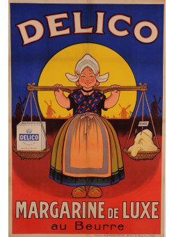 "Original Vintage French Poster for ""Delico - Margarine de Luxe"" by Oge ca. 1925"