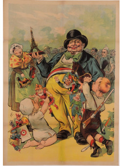 Original Vintage French Children Poster BEFORE LETTERS by Oge ca. 1900
