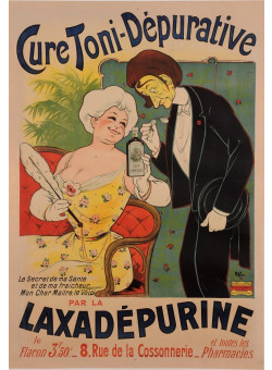 "Original Vintage French Poster for Laxadepurine - Cure Toni-Depurative"" by Oge ca. 1907"