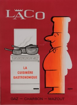 "Original Vintage French Poster  ""Laco"" La Cusine Gastronomique by Savignac 1963"