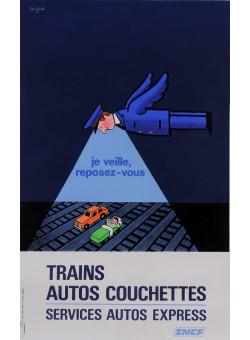 "Original Vintage French Poster Advertising ""SNCF"" by Savignac 1972"