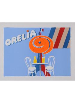 "Original Vintage American Poster for ""Orelia"" Orangina Drink 1980's-90's"