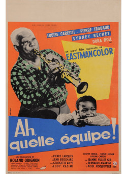 """Original Vintage French Poster for """"Ah, quelle équipe!"""" by Ernst Brand 1957"""