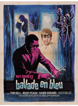 "Original Vintage French Movie Poster for ""Ray Charles - Ballade en Bleu"""