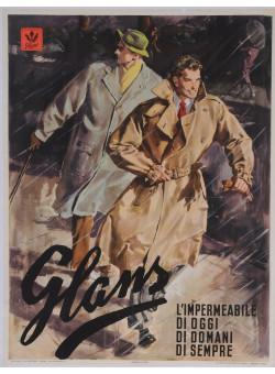 "Original Vintage Italian Fasion Poster Advertising ""Glans"" 1950"